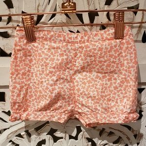 Carter's peach colored shorts with butterflies